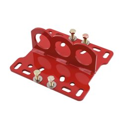 DELUXE HIGH-BACK SEAT- GRAY/RED